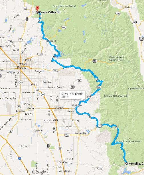 Kernville-Bass lake map-2