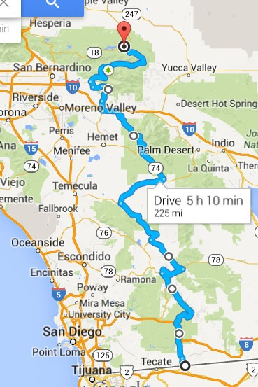 San Diego To Big Bear >> Mexico To Big Bear Lake The Pacific Crest Motorcycle Road