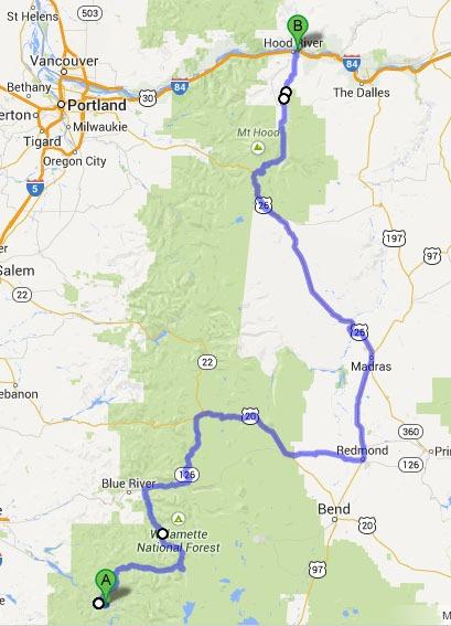 Oakridge to Hood River