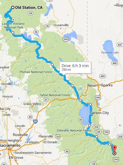 Walker to Old Station Map
